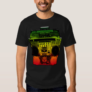 Boombox Farbe verblassen (Rasta) Tshirts
