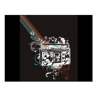 Boombox Ghettoblaster-Getto-Bläser Jambox Postkarte