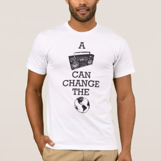 Boombox kann die Welt ändern T-Shirt