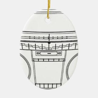 boombox keramik ornament