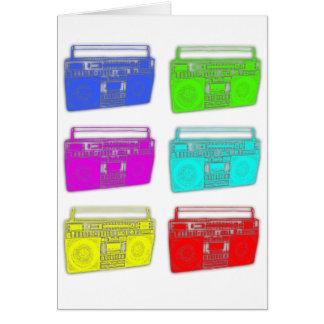 BOOMBOX multi Farbraver Karte