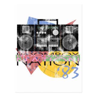 Boombox Nation 83 Postkarte