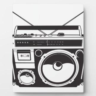 ☞ Boombox Oldschool / Cassette Player Fotoplatte