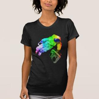 Boombox Raum-Mann-Regenbogen-Farbe T-Shirt