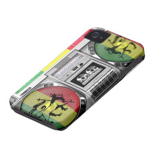 boombox Reggae iPhone 4 Cover