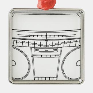 boombox silbernes ornament