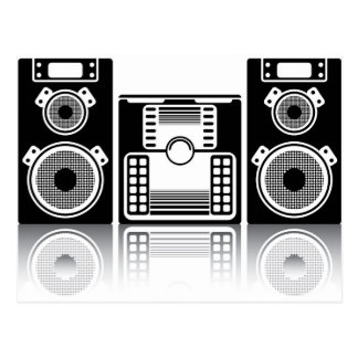 BoomBox Stereolithographie Postkarte