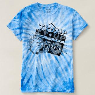 Boombox TRUMPF ES HERAUF blaues Krawatten-T-Shirt T-shirt