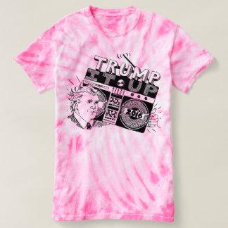 Boombox TRUMPF ES HERAUF rosa Krawatten-T-Shirt T Shirt