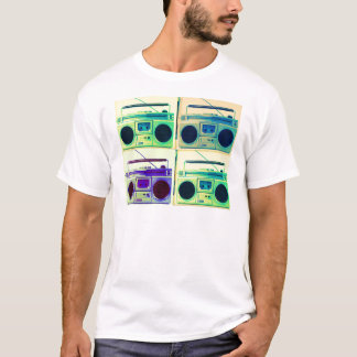 Boombox Viererkabel-Art T-Shirt