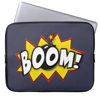 Boomsuperhero-Comic-Aktions-Wörter Laptop Sleeve Schutzhüllen