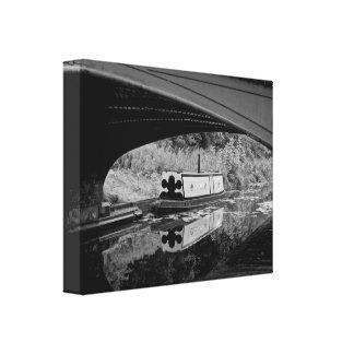 Boot auf dem Black Country Kanal, Dudley, England Leinwanddruck