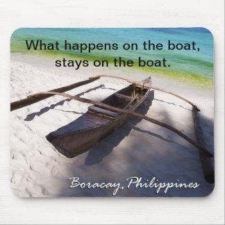 Boot auf dem Strand Boracay Philippinen Mousepad