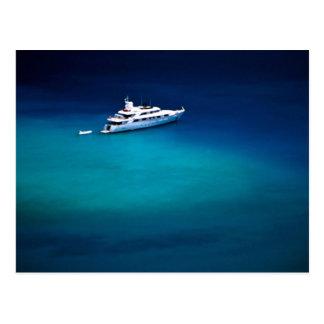 Boot auf Magens Bucht, St Thomas, Postkarte
