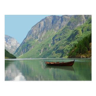 Boot der Wikinger-Postkarte Postkarte