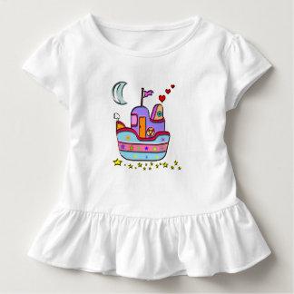 Boot nachts kleinkind t-shirt