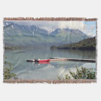 Boot, Trailsee, Elch-Durchlauf, Alaska Decke