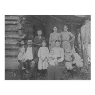 Boot und Josie Ross mit Kindern Postkarte