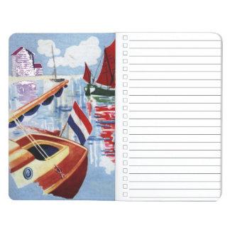Boote am Anker Taschennotizbuch