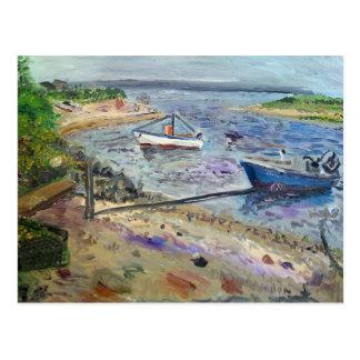 Boote am napeaque, das Hamptons Postkarte