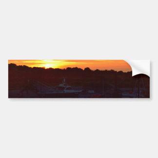 Boote am Sonnenuntergang Autoaufkleber