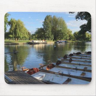 Boote auf dem Fluss, Stratford nach Avon, Mousepad