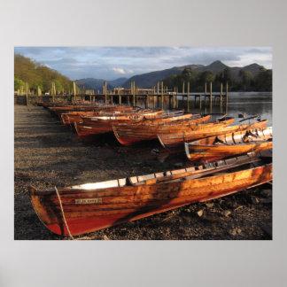 Boote auf Ufern von Derwent wässert Plakat
