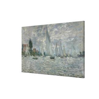 Boote Claude Monets | oder Regatta in Argenteuil Leinwanddruck