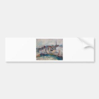 Boote im Hafen von Honfleur durch Claude Monet Autoaufkleber