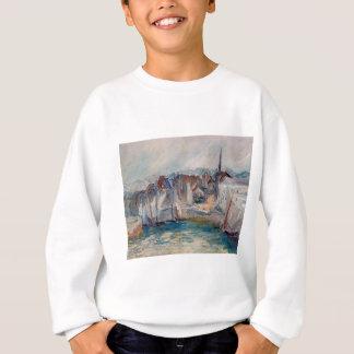 Boote im Hafen von Honfleur durch Claude Monet Sweatshirt