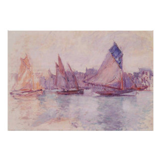 Boote im Hafen von Le Havre, 1882-1883 Plakat