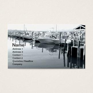Boote im Jachthafen in Niantic Connecticut Visitenkarte