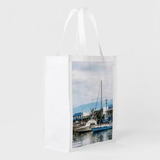 Boote in Bridgetown Barbados Wiederverwendbare Einkaufstasche