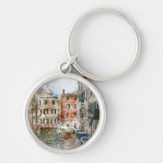 Boote in den Kanälen von Venedig Italien Schlüsselanhänger