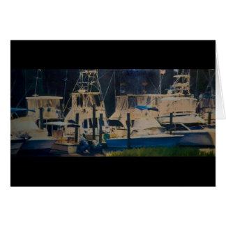 Boote in einem Hafen in Beaufort, Sc Karte