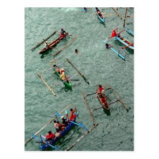 Boote in Indonesien Postkarte