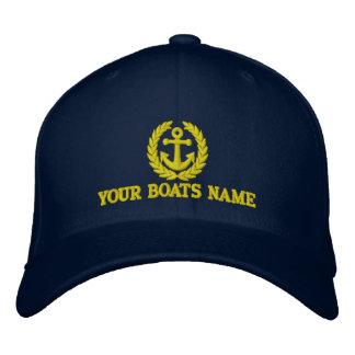 Boote nennen mit Seemannankermotiv Bestickte Kappe