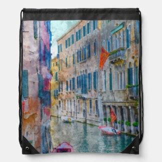 Boote Venedigs Italien im Canal Grande Turnbeutel