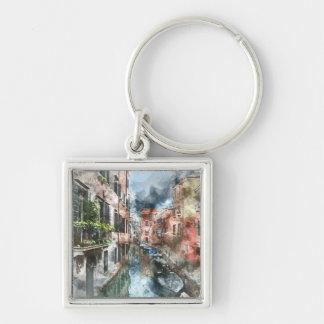 Boote Venedigs Italien im Kanal Schlüsselanhänger
