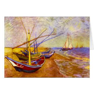 Boote von Saintes-Maries durch Vincent van Gogh Karte