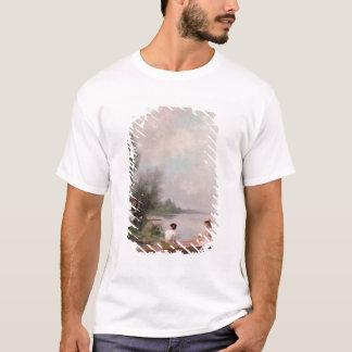 Bootfahrt auf dem Fluss, 19. Jahrhundert T-Shirt