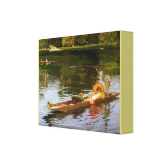 Bootfahrt auf der Themse durch John Lavery Leinwanddruck