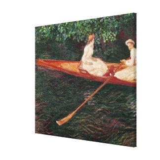 Bootfahrt Claude Monets | auf dem Fluss Epte Leinwanddruck