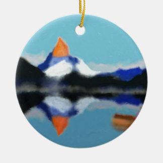 Bootfahrt durch Gebirgskunst Keramik Ornament