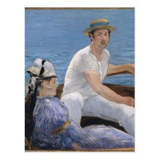 Bootfahrt - Edouard Manet Postkarte