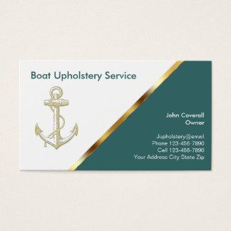 Bootfahrt-Polsterungs-Visitenkarten Visitenkarte