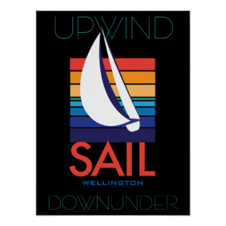Boots-Farbe Square_SAIL Wellington_Upwind Poster