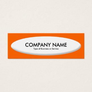Boots-Form III - Weiß auf Orange Mini Visitenkarte