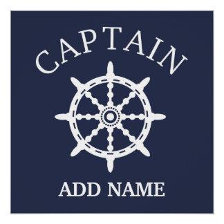 Boots-Kapitän (personifizieren Sie Name Kapitäns) Poster