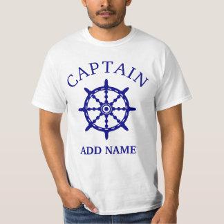Boots-Kapitän (personifizieren Sie Name Kapitäns), T-Shirt
